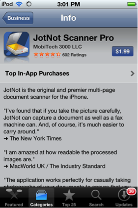 An optimized layout of text improves readability on the App Store details page