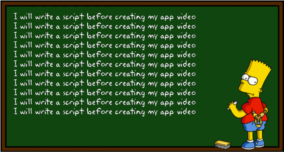 Bart Simpson: I will write a video script