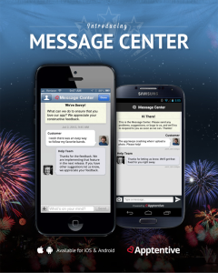 Apptentive's Message Center for iOS and Android enables 2 way conversations in mobile apps