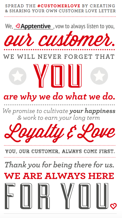 A love letter to our customers apptentive apptentive customer love letter manifesto expocarfo Choice Image