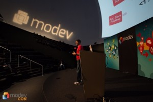 Apptentive CEO Robi Ganguly speaking at ModevCon 2014