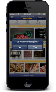 Urbanspoon Mobile Feedback Prompt
