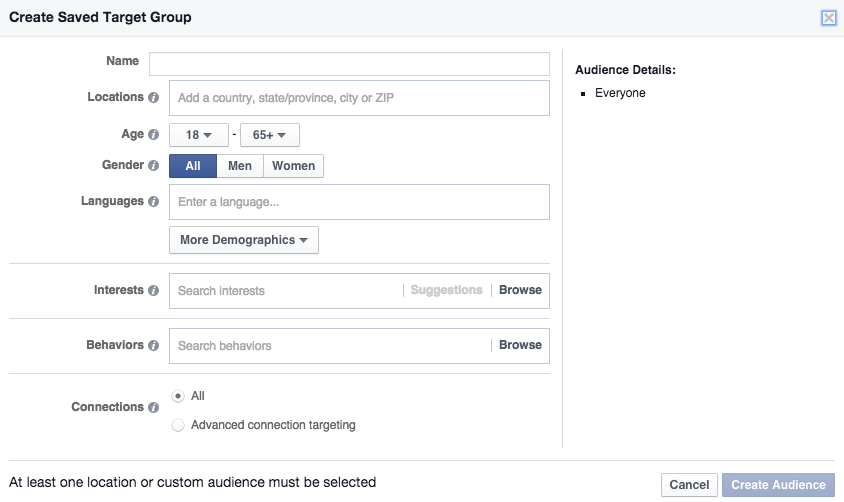 Facebook App Install Ad Targeting Options
