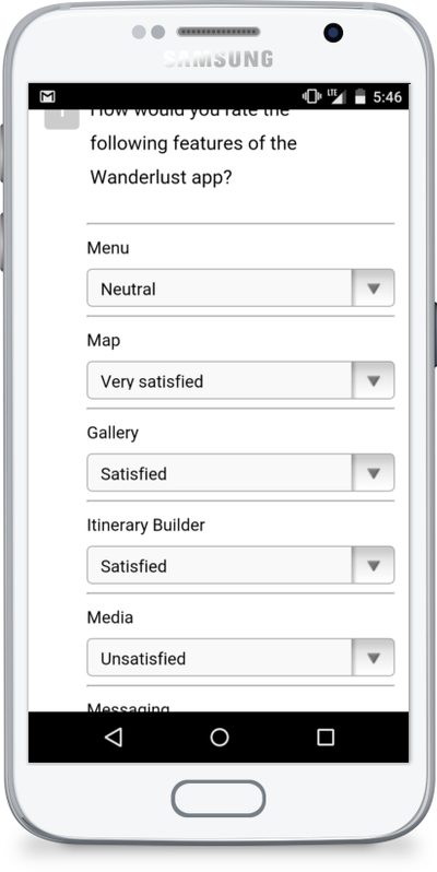 An example of a mobile optimized survey or a responsive web survey
