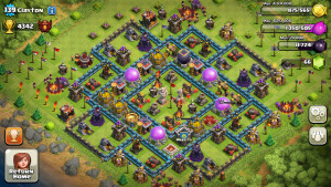 Screenshot of best selling mobile game Clash of Clans