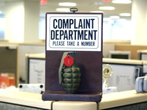 customer complaints - take a number