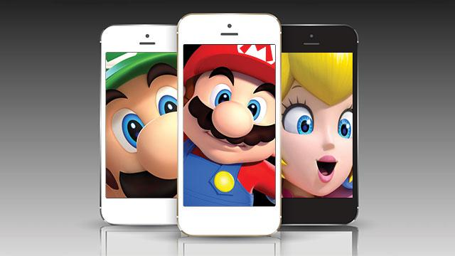 Nintendo characters on mobile devices