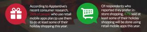 Survey data on mobile holiday commerce