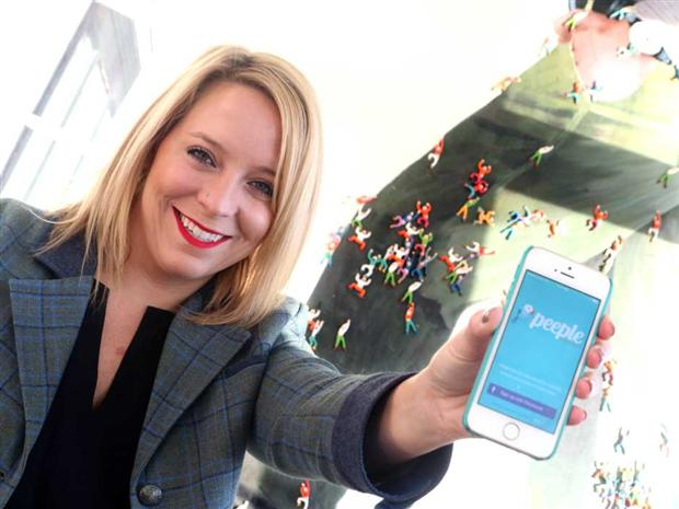 Peeple founder Julia Cordray poses with her controversial people-rating app