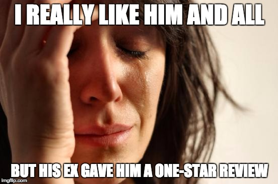 Star ratings meet online dating meme