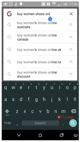 Mobile search results