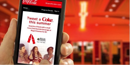 Coca Cola mobile app marketing