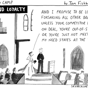 Brand loyalty comic