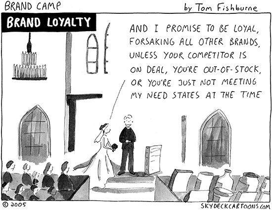 Mobile customer loyalty comic