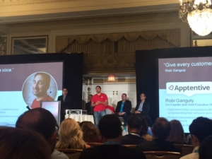Apptentive onstage at Dreamforce 2016