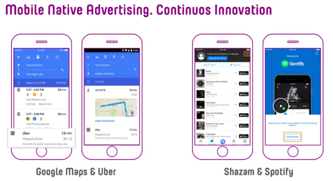 Mobile native advertising: Continuous innovation
