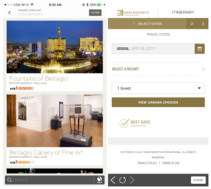 MGM Resort mobile app features