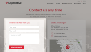 Contact form example