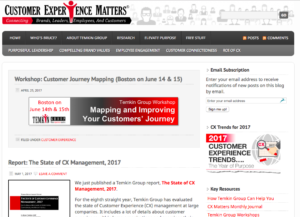 Customer Experience Matters blog