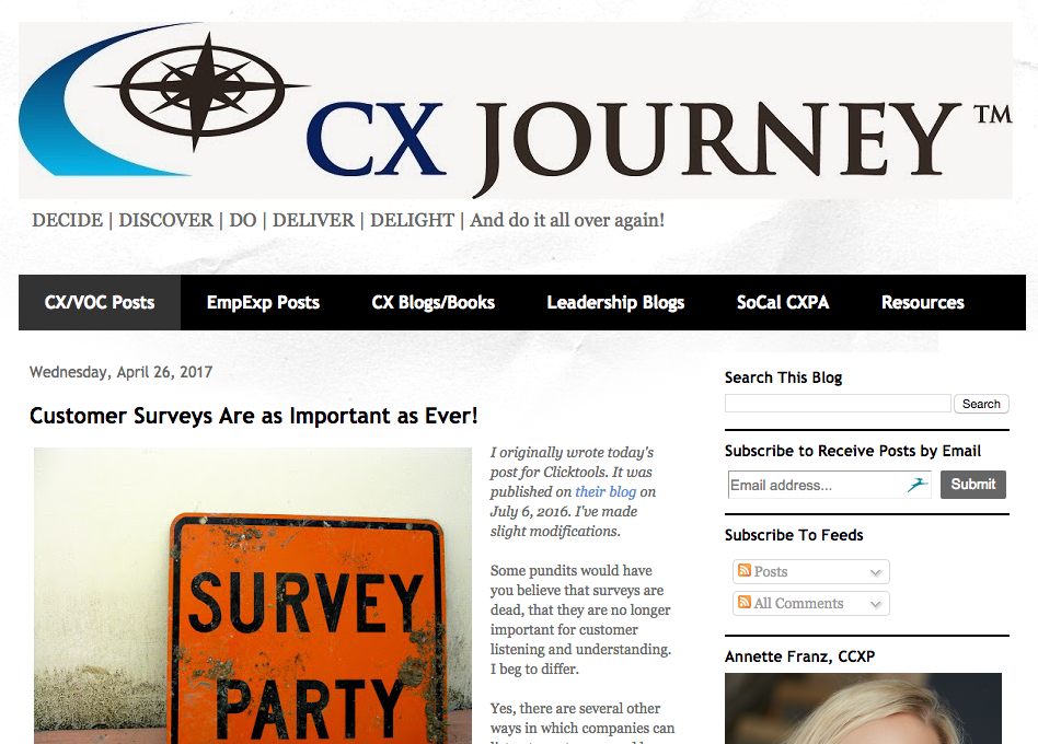 CX Journey Blog