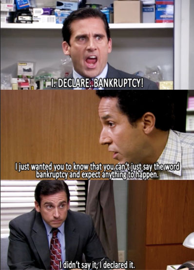 Michael Scott bankruptcy