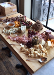 Cheese and meat spread at Apptentive's Boston Mobile Product Management Roadshow