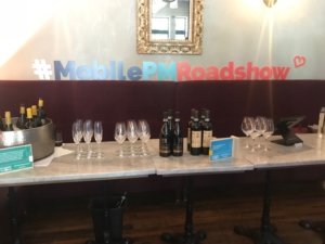 Wine bar at Apptentive's Mobile Product Management Roadshow