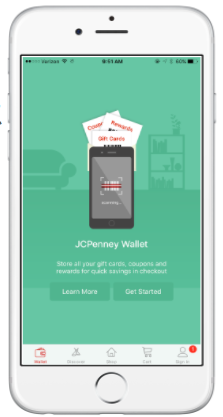 JCPenney mobile wallet