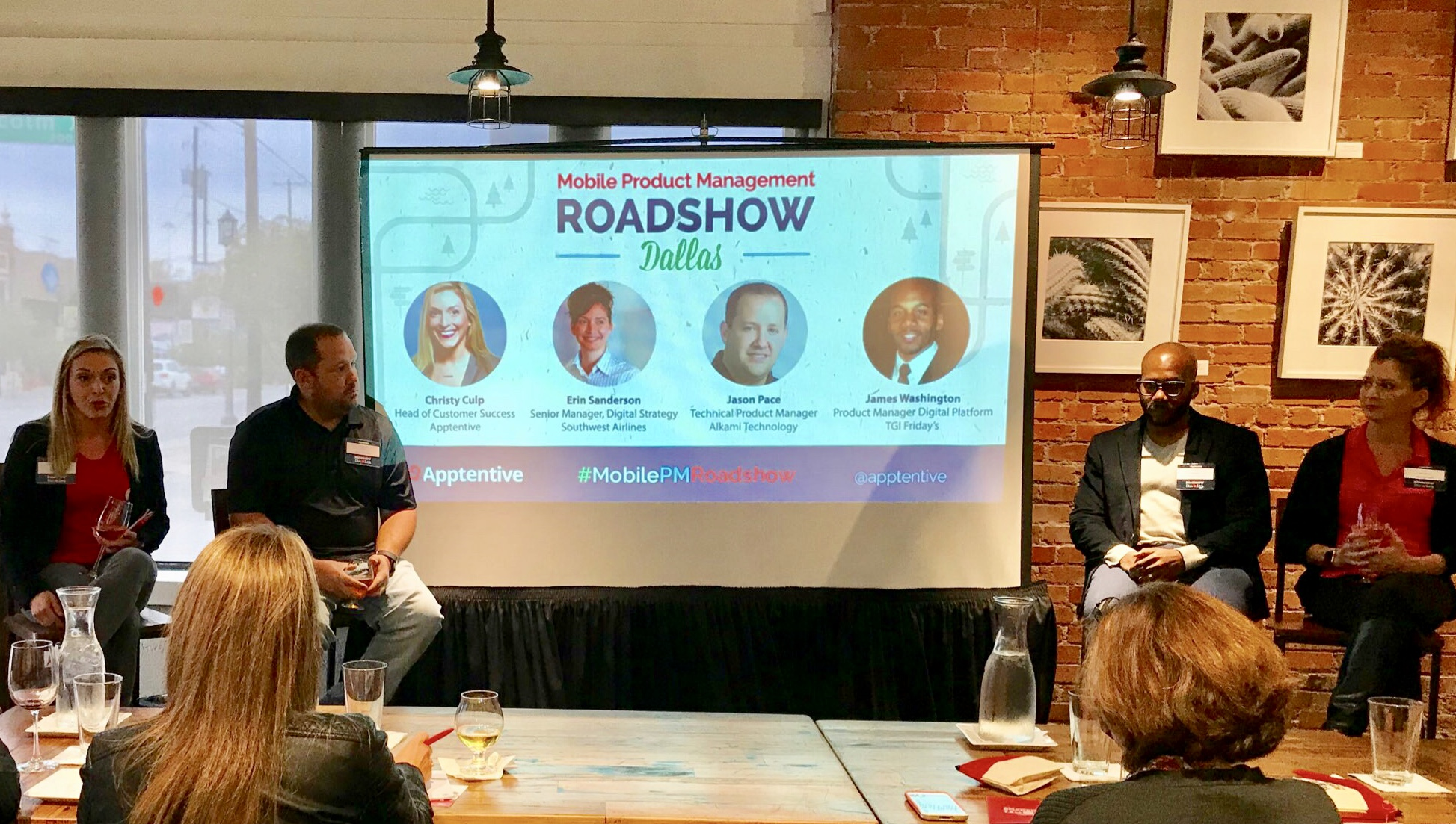 Panelists at Apptentive's Mobile Product Management Roadshow in Dallas