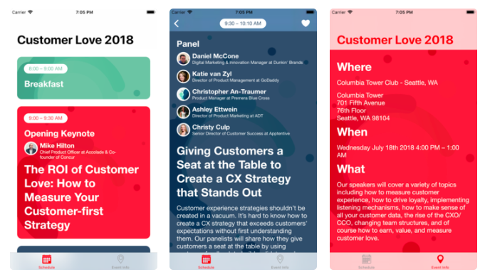 Customer Love Summit app