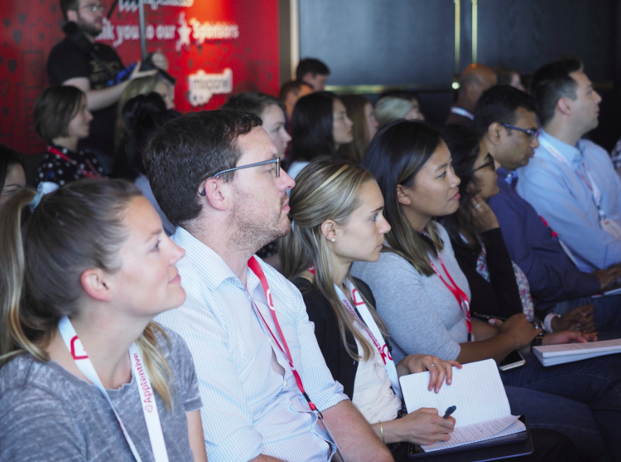 Attendees listen to one of this year's incredible speakers