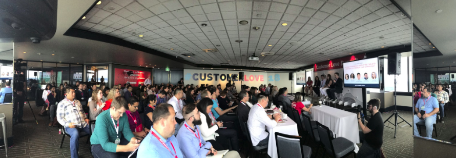 Attendees at the 2018 Customer Love Summit.