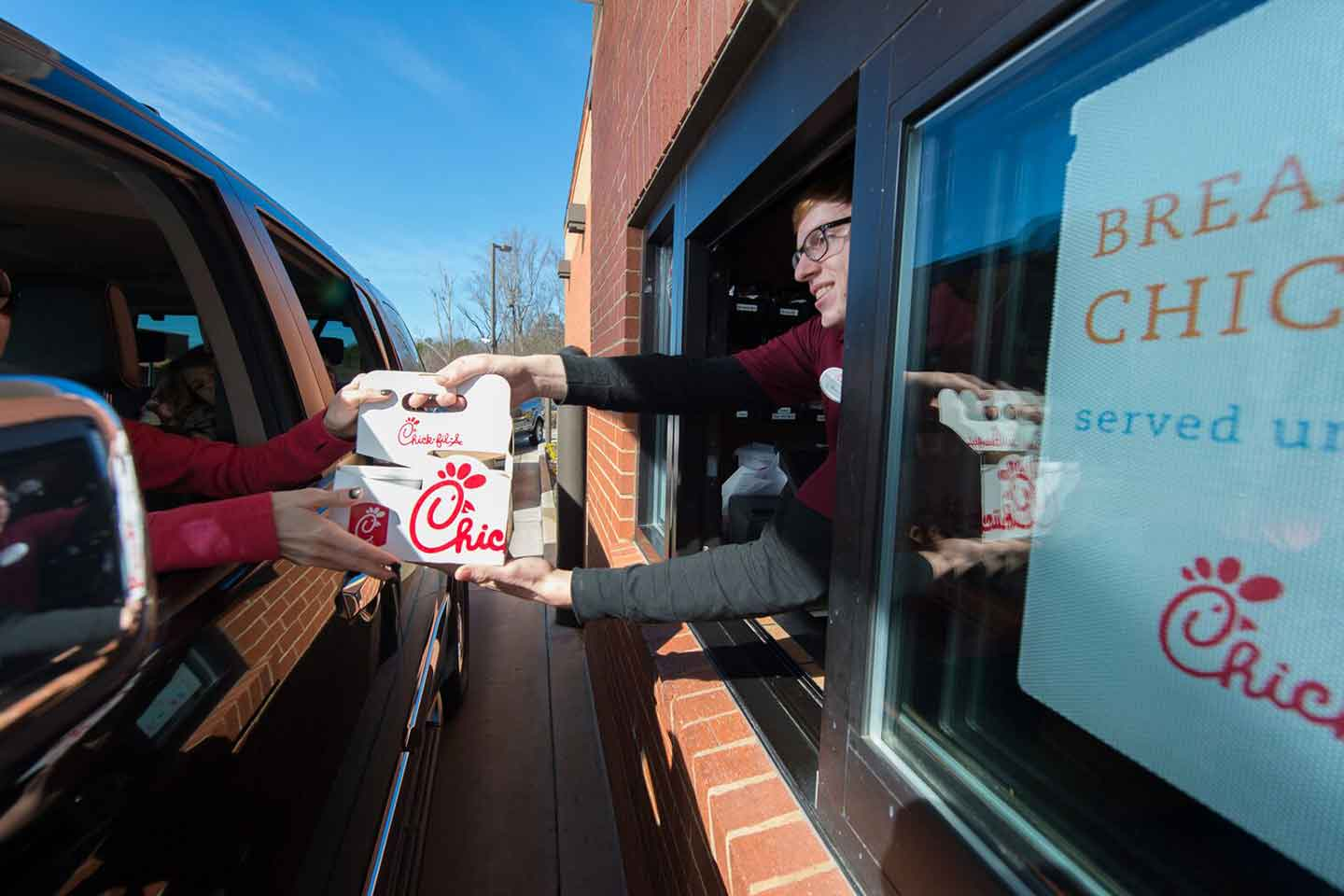 Chick-fil-a drive thru mobile ordering