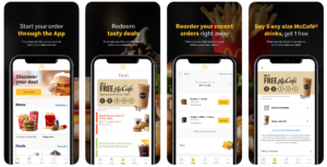 McDonald's mobile app coupons for free food drive sales and downloads