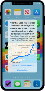 New iOS 13 app feature privacy and gps tracking