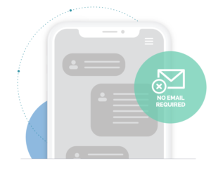 No email required, Message center allows responses to customer feedback without a required email address