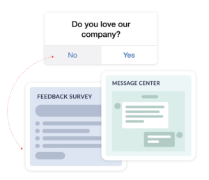 Respond to at-risk customers by retargeting in-app or across external marketing channels by segments based on customer sentiment