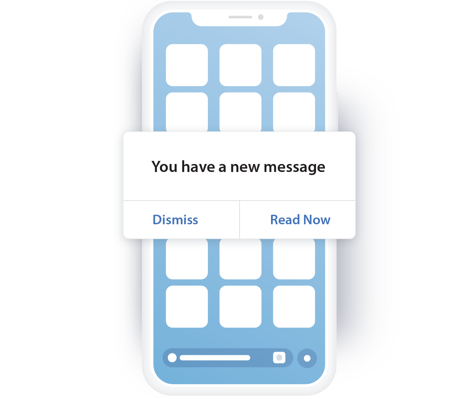 Mobile notification message Notify and alert customers that their feedback was responded to increase app engagement and have customer voices be heard