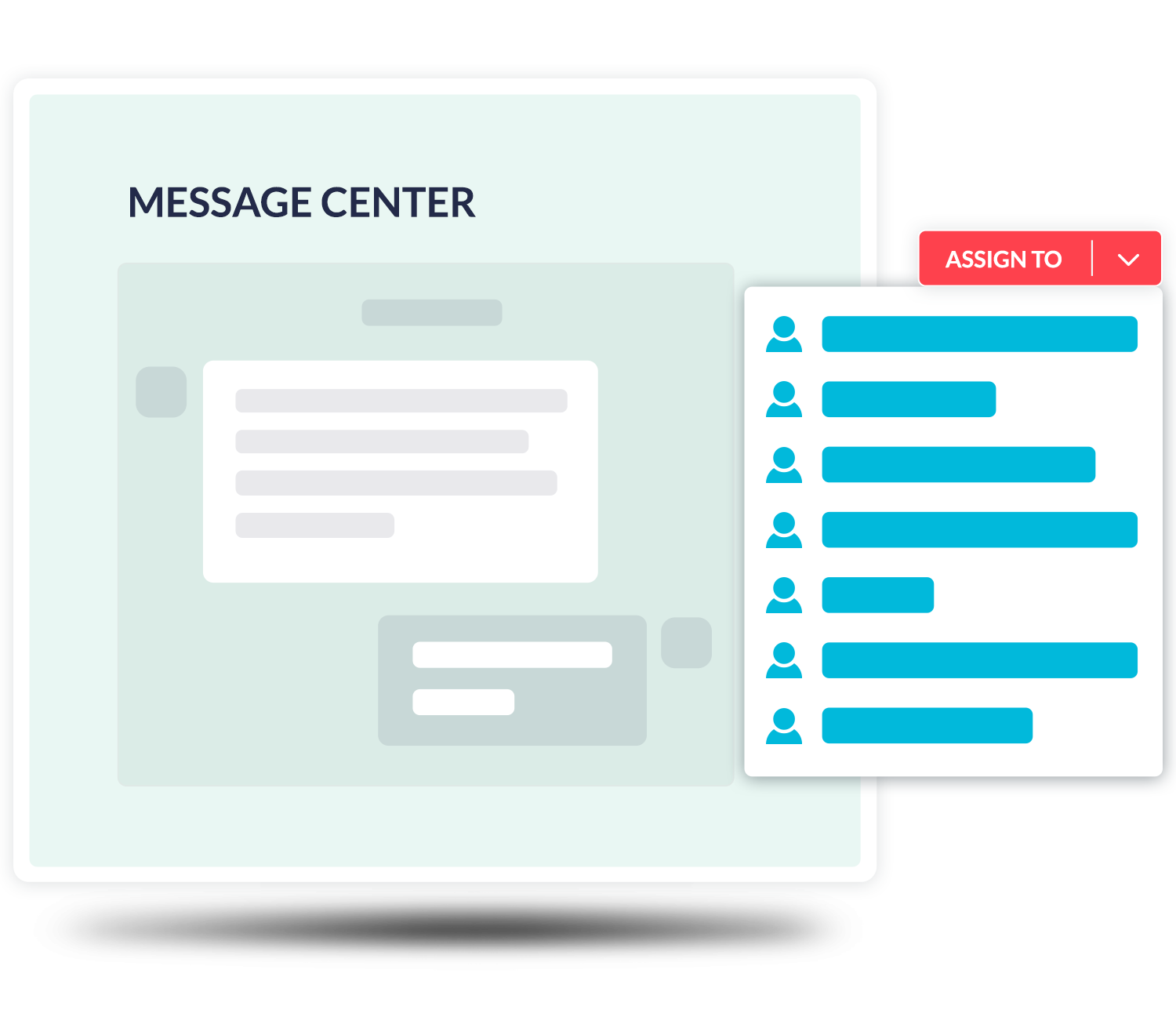 message center tagged notifications customer feedback