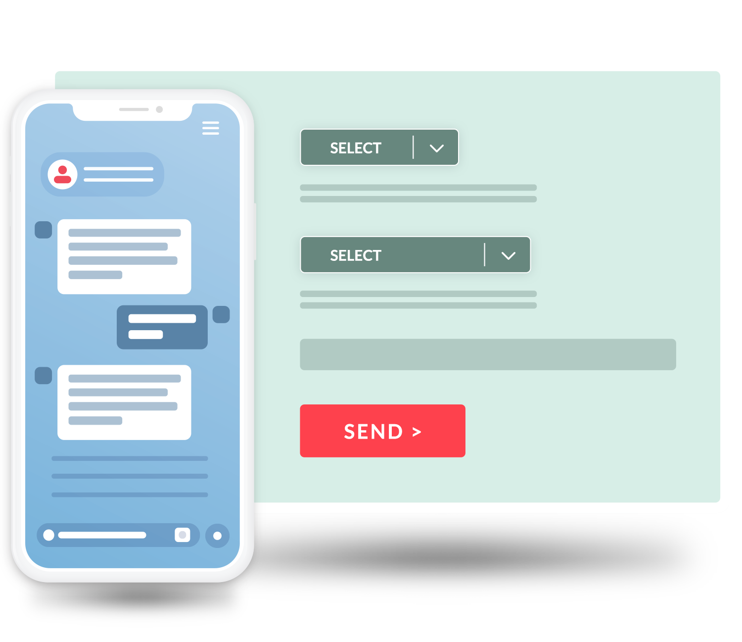select specific customers for specialized messages