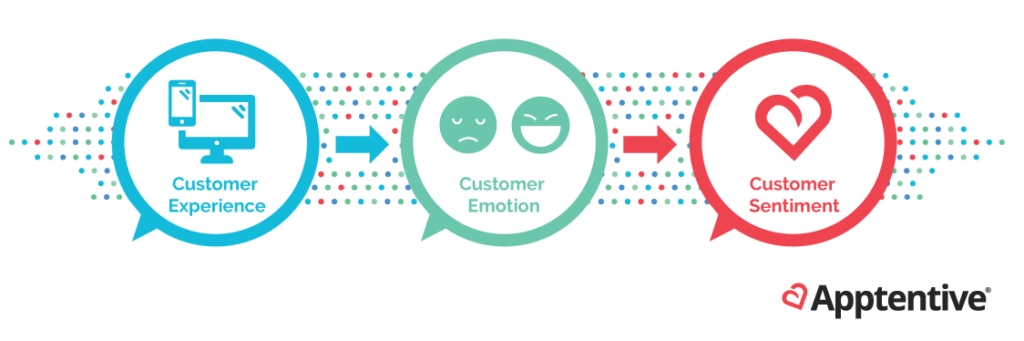 Customer emotion and customer sentiment