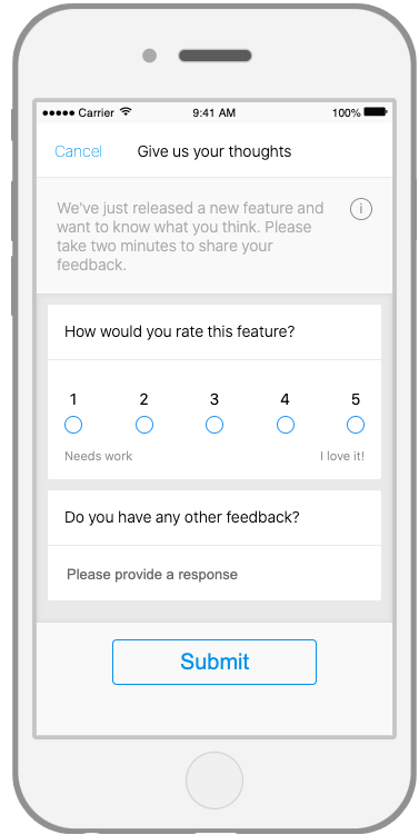 Mobile survey, how would you rate this feature