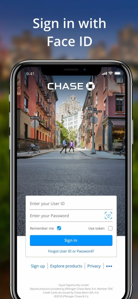 Chase facial recognition